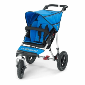 Out n About Nipper Single 360 V4 Stroller-Lagoon Blue + FREE Sho