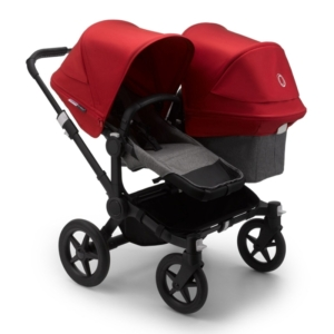 Bugaboo Donkey 3 Duo Pushchair-Black/Grey Melange-Red