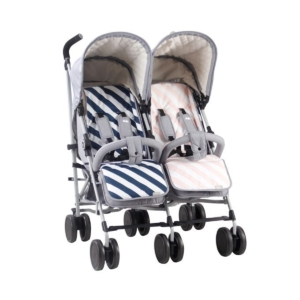 My Babiie Dreamiie by S/M MB22 Twin Stroller-Grey Melange MB22SF