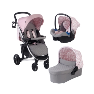 My Babiie MB200+ Dani Dyer Pink & Grey Marble Travel System (MB2