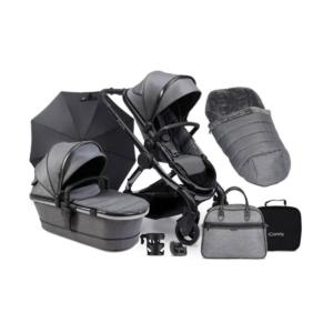 iCandy Peach Phantom Pushchair & Accessories Bundle-Dark Grey Tw