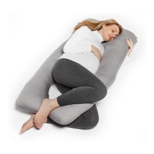 TM Home THEODORE U Shaped Pregnancy Pillow Pillowcase-Grey