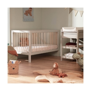Troll Lukas 2 Piece Cot Bed & Changing Table-Grey/Natural