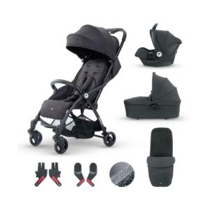 Miniuno TouchFold Travel System-Black Herringbone